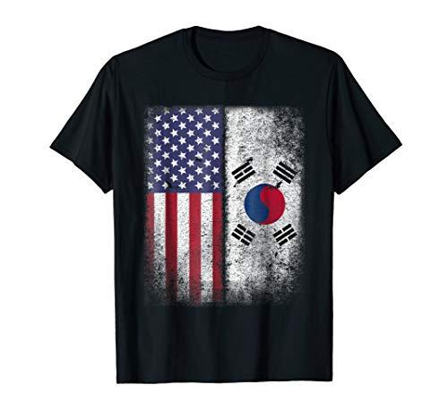 South Korean American Flag T-shirt Korea Usa America Pride