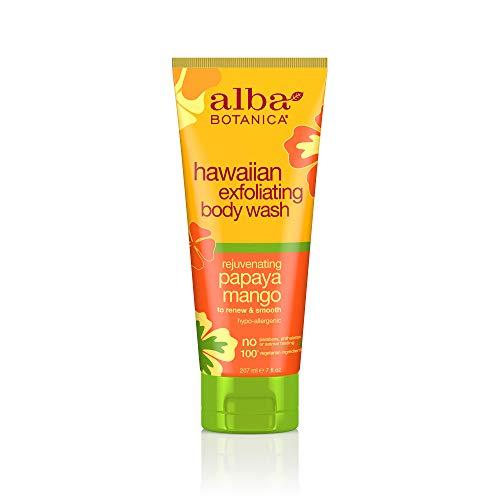 Alba Botanica Hawaiian, Papaya Mango Exfoliating Body Wash, 7 Ounce