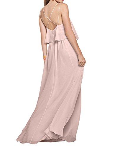 Linie Rock Einfach Brau Festlichkleider Brautjungfernkleider La Lang Gelb mia Partykleider Elegant A Chiffon Abendkleider PHw4ngnqA7