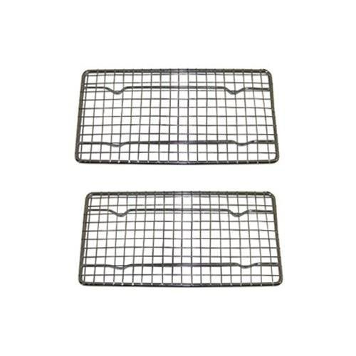 (Heavy-Duty Cooling Rack, Cooling Racks, Wire Pan Grade, Commercial grade, Oven-safe, Chrome, 4 x 8 Inches, Set of 12)