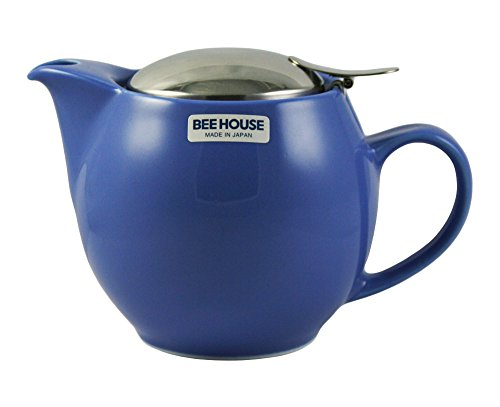 Bee House Ceramic Round Teapot - Blueberry
