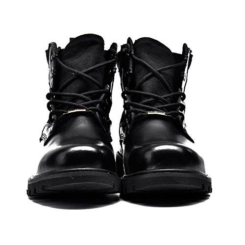 Scarpe Casual Maschile Vestito Alpinismo Autunno Allaperto Stivali Scarpe Sport Slip On Marrone-nero-nero Lunghezza piede=41EU