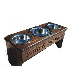 3 bowl dog feeder 15 in. tall