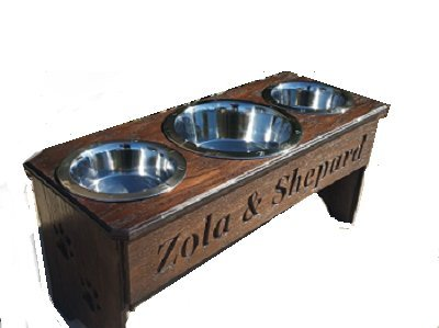 3 bowl dog feeder 15 in. tall Review
