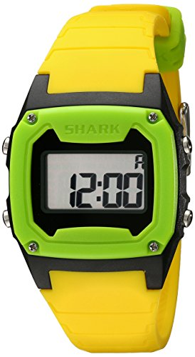 - Freestyle Unisex 101808 Shark Classic Green and Black Digital Watch with Yellow Band
