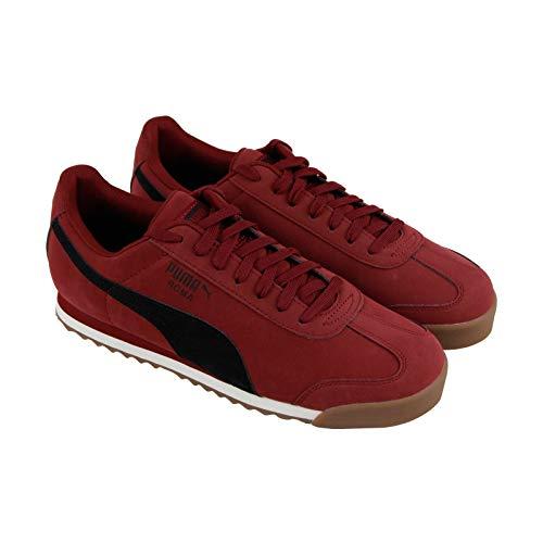 PUMA Men's Roma Basic Sneaker, Pomegranate Black, 11 M US (Puma Mens Leather Shoes)