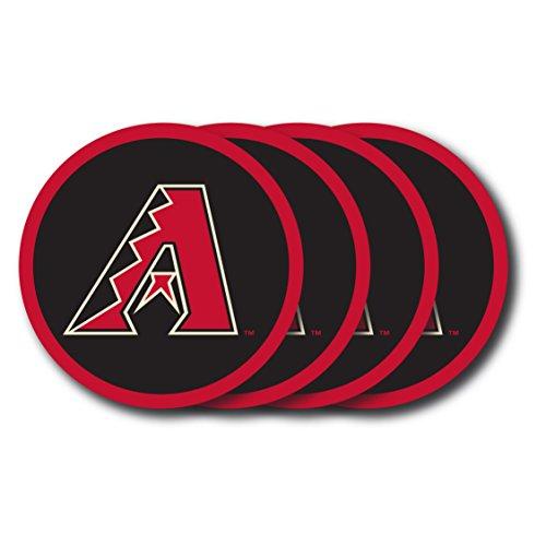 (MLB Arizona Diamondbacks Vinyl Coaster Set (Pack of 4) )