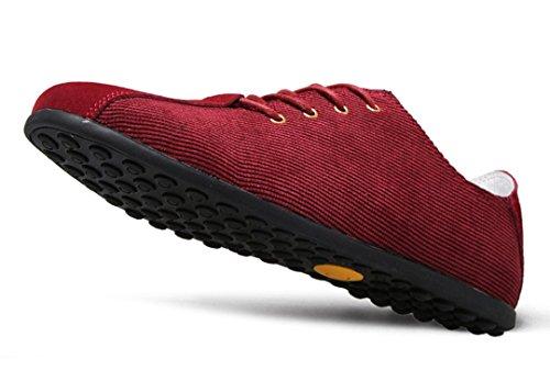 Tda Mens Nuova Moda Leggera Stringata In Pelle Da Viaggio Mocassini Da Viaggio Sneaker Vino Rosso