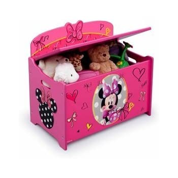 Amazon Com Disney Minnie Mouse Deluxe Toy Box Chest Pink