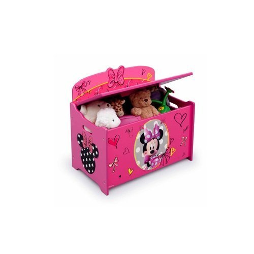 Disney Minnie Mouse Deluxe Toy Box Chest, Pink by Disney