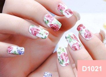 Arte de uñas: Calcomanías y autoadherentes Calcomanía Transferible con Agua D1021 Pegatina Tatuaje para Uñas Navidad Nail Sticker - FashionLife