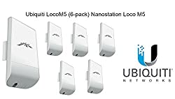Bundle Of 6 Ubiquiti Nanostation Loco M5 Outdoor Mimo 11n 5ghz. Locom5 (6 Pack)