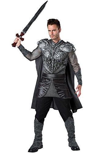 InCharacter Dark Medieval Knight Adult Costume Grey