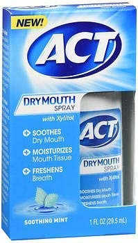 ACT Dry Mouth Spray Soothing Mint - 1 oz, Pack of 5 ()