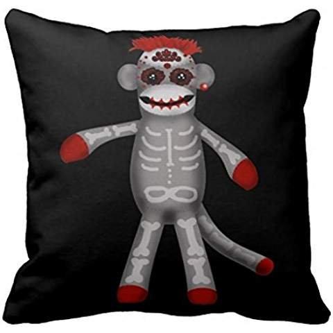 Sock Monke Sugar Skull Day Of The Dead R1f550c3715ea4a46b9017991e37b3506 I5fqz 8byvr Pillow Case (Sugar Skull Cat)