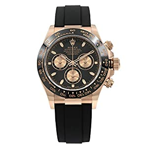 Best Epic Trends 41u3qBLemaL._SS300_ Rolex Daytona Oysterflex Everose Gold Black Dial Automatic Mens Watch 116515LN