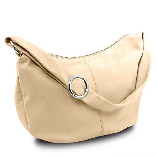 Tuscany Leather Yvette Borsa in pelle da donna Beige Beige