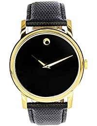 Mens 2100005 Museum Gold Classic Leather Watch