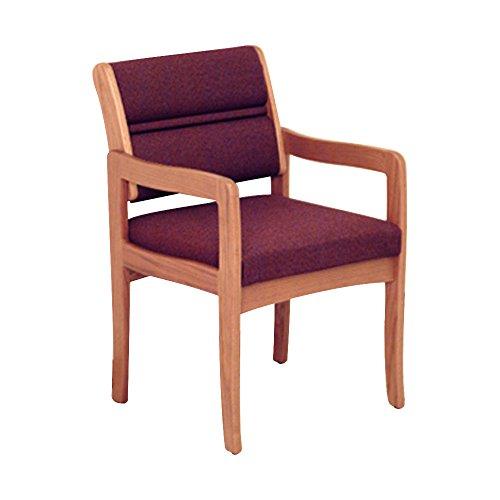 Wooden Mallet Valley Guest Leg Chair, Standard, Medium Oak, Cabernet Burgundy