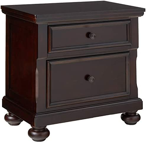 Roundhill Furniture Brishland 2 Drawers Bedroom Nightstand