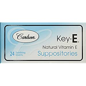 Carlson Key E Suppositories, Vitamin E, Box of 24