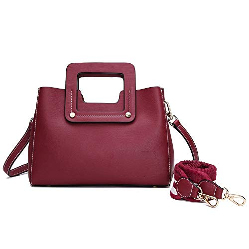 Red A Moda Tracolla Borsa Di In Casual Bag Pelle Messenger Mano 4AvCqvZw