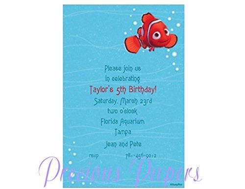 Disney Nemo Birthday Invitations set of -