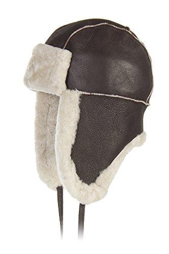 b-3-sheepskin-aviator-hat-brown-cream-size-large-22-3-4-23-1-8-circumference