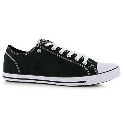 Dunlop Herren Canvas Lo Profile Pumps Lace Up Freizeit Schuhe Extra Leicht Schwarz