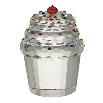 Oleg Cassini Crystal Cupcake Paperweight