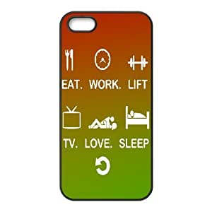 For LG G3 Phone Case Cover Eat Work Lift TV Love Sleep Repeat Hard Shell Back Black For LG G3 Phone Case Cover 331847