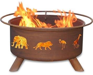 Patina Products F113, 30 Inch Safari Fire Pit