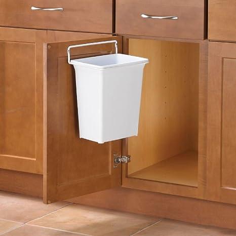 KV DWB975-W Trash Can, door mounted, 9 quart, white