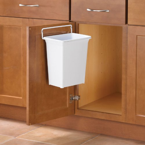 Amazon.com: KV DWB975 W Trash Can, Door Mounted, 9 Quart, White: Home U0026  Kitchen