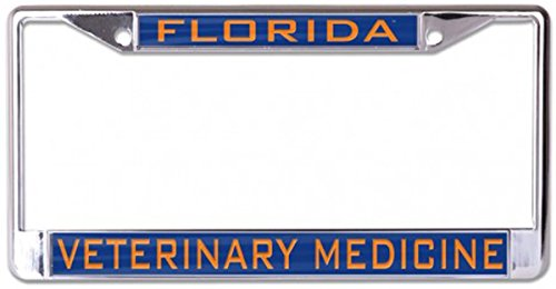 University of Florida Veterinary Medicine License Plate Frame, metal with inlaid acrylic, 2 mount holes by WinCraft