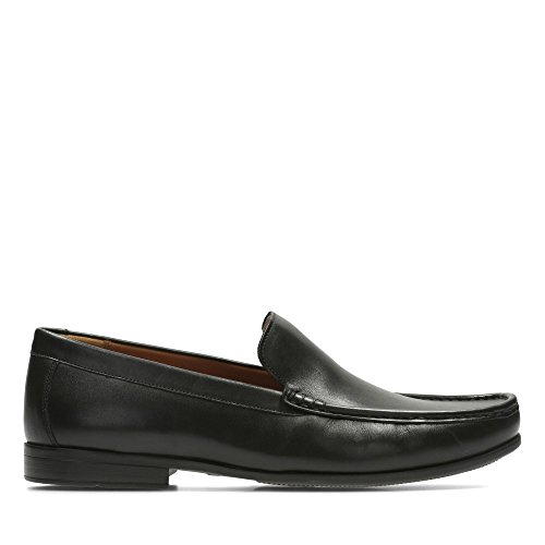 Claude 10 Plain Shoes Leather Fit Size in Clarks Black Standard OdqZaO