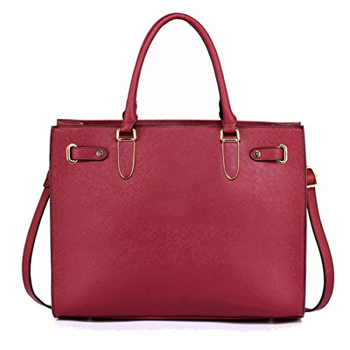 Tote 50 FREE Women's Gorgeous SAVE DELIVERY UK Shoulder Burgundy Large Bag ZYZTx
