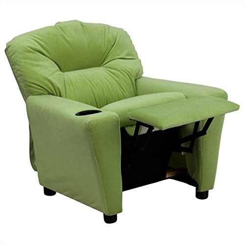 Flash Furniture Contemporary Avocado Microfiber Kids Recliner with Cup ()