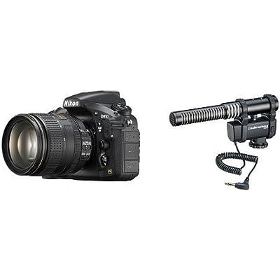 Nikon D810 w/ 24-120mm Lens + Audio-Technica AT8024 Camera-Mount Microphone