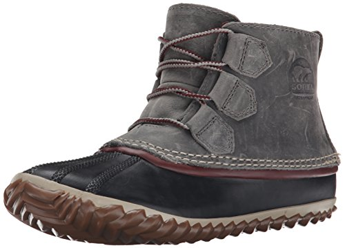 Sorel Women's Out N about Leather Snow Boot, Quarry/Madder,7