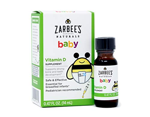 Zarbee's Naturals Baby Vitamin D Supplement, 0.47 Ounce Bottle (Best Way To Cure Jaundice)