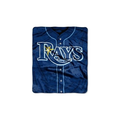 (MLB Tampa Bay Rays Jersey Plush Raschel Throw, 50