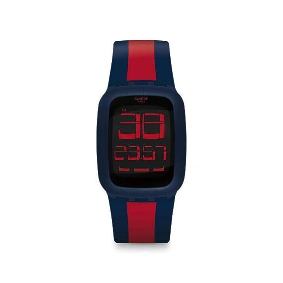 Swatch Reloj Digital para Unisex Adultos de Cuarzo con Correa en Silicona SURN101D: Amazon.es: Relojes