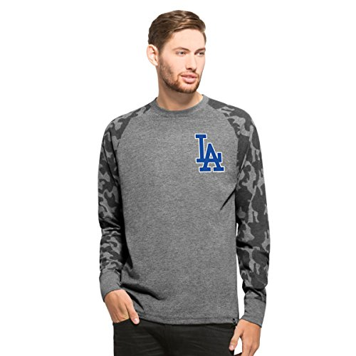 MLB Los Angeles Dodgers Vintage Graphic Recon Camo Raglan Tee by '47 (The Good Vibe Jersey compare prices)