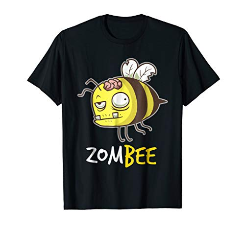Zombee T-Shirt Funny Zombie Bee Halloween Shirt for Beekeper]()