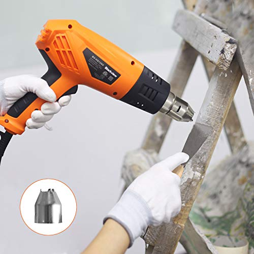 Blackview Heat Gun 1500W Heavy Duty Hot Air Gun with 2-Temp Settings 4 Nozzles 662℉~1022℉(350℃- 550℃)with Overload Protection for Crafts, Shrinking PVC, Stripping Paint, Bending Pipes, Lighting BBQ by Blackview (Image #5)