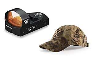 IKONOPS Camo Hat Bundled 1 Vortex Optics Venom Red Dot Gun Sight for hand guns, pistols and shotguns Bright Red Dot with large 6 MOA Dot includes Picatinny mount