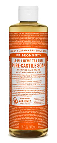 - Dr. Bronners Tea Tree Castile Liquid Soap 16oz.