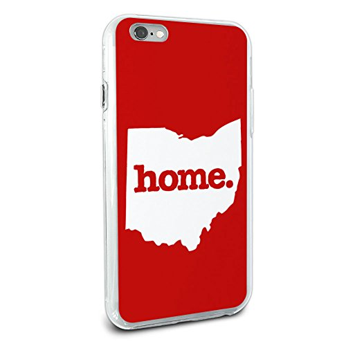 Ohio OH Home State Hybrid Case for Apple iPhone 6 6s Plus (FITS PLUS MODEL ONLY) - Solid Red (State Case Cell Phone)