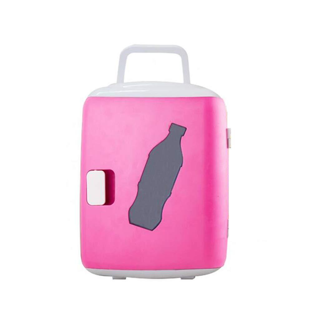 FEIFEI 車載用冷蔵庫 屋外の1つの携帯用家に付き車の小さい冷却装置多機能12v冷却暖房2-220v AC / 12v DC / -12L (Color : Pink) B07T451HYK Pink